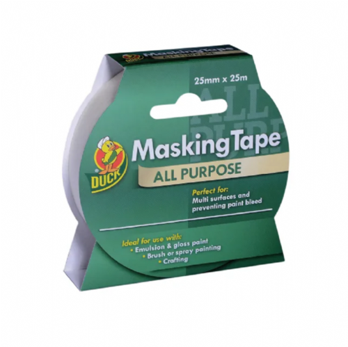 Shurtape 232316 Duck Tape All Purpose Masking Tape 25mm x 25m